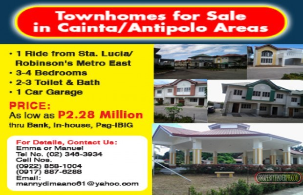Photo #1 Townhouse for sale in Rizal, Cainta