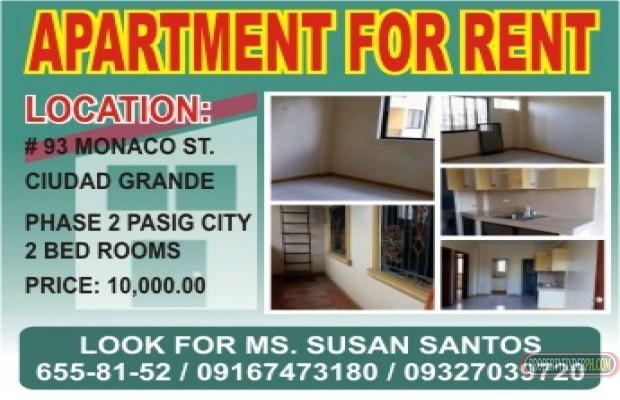 Photo 1 Apartment For Rent In Metro Manila Pasig