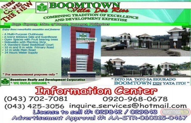 Photo #1 Residential Land for sale in Batangas, Bauan