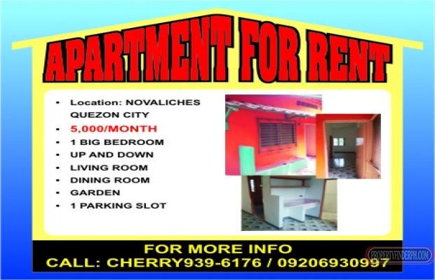 Photo #1 Apartment for rent in Metro Manila, Quezon City