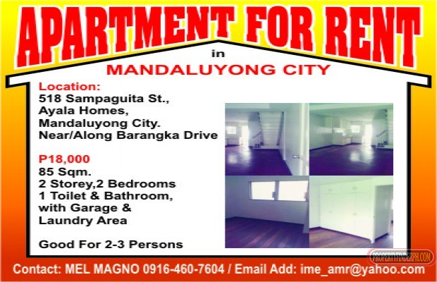 Photo #1 Apartment for rent in Metro Manila, Mandaluyong