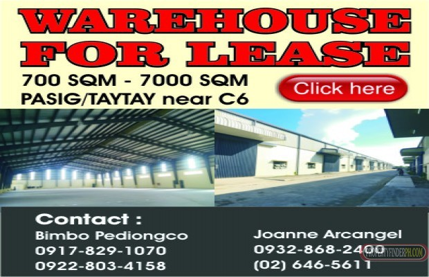 Photo #1 Warehouse for rent in Metro Manila, Pasig