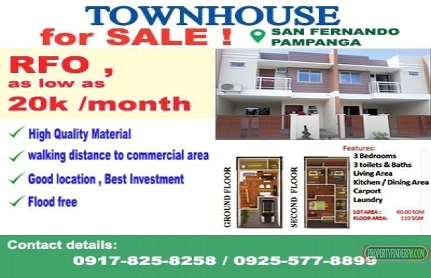 Photo #1 Townhouse for sale in Pampanga, San Fernando City