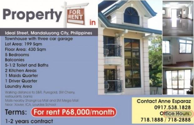 Photo #1 Townhouse for rent in Metro Manila, Mandaluyong