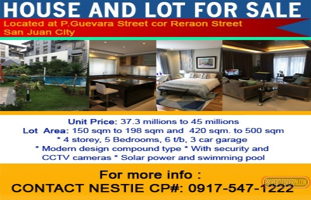 Photo #1 House and Lot for sale in Metro Manila, San Juan