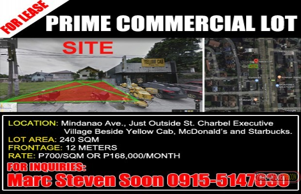 Photo #1 Commercial Land for rent in Metro Manila, Quezon City