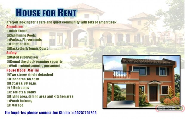 Photo #2 House and Lot for rent in Laguna, Cabuyao