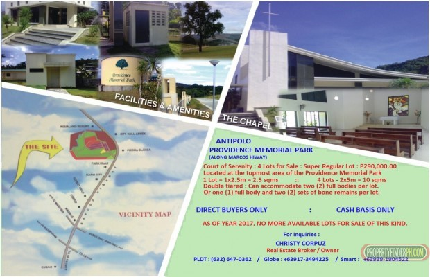 Photo #1 Memorial Land for sale in Rizal, Antipolo City