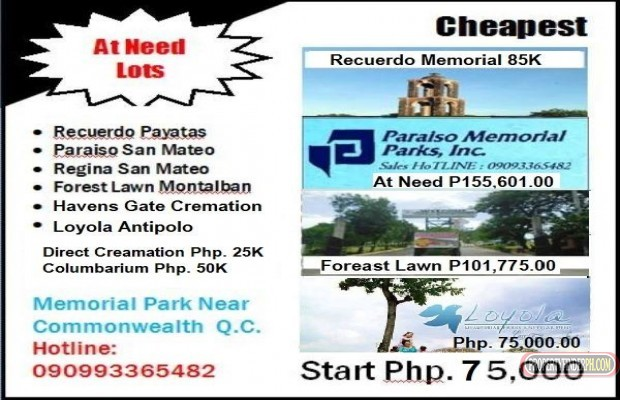 Photo #1 Memorial Land for sale in Metro Manila, Quezon City