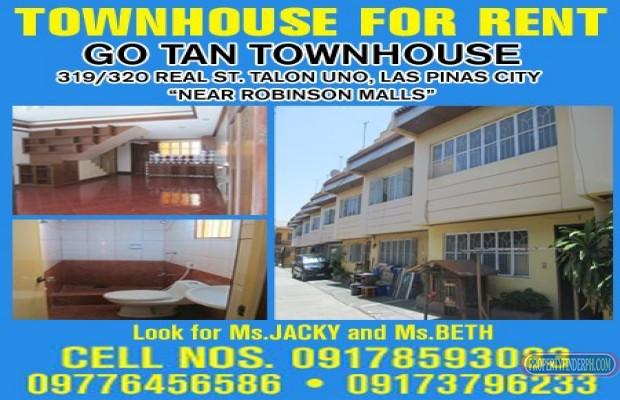 Photo #1 Townhouse for rent in Metro Manila, Las Piñas